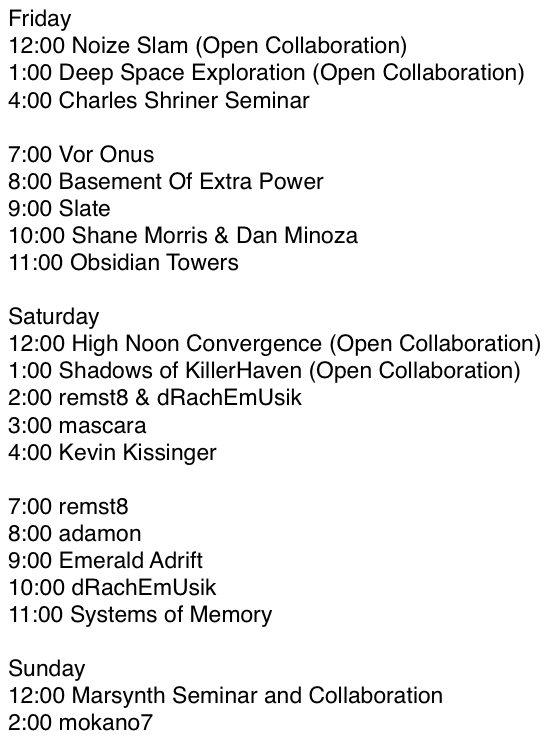 KCEM Schedule